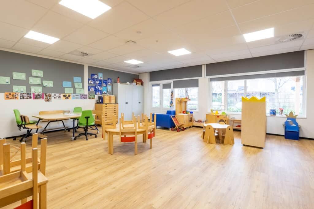 PVC Vloer projectvloeren op een school in Nederland