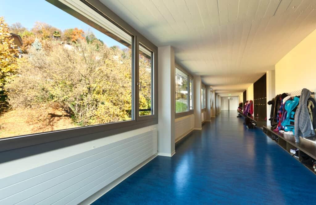 Linoleum vloer school